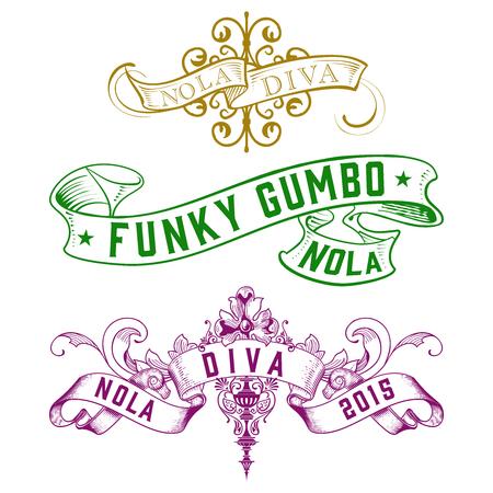 new orleans: WordArt Collection Funky Gumbo NOLA Diva