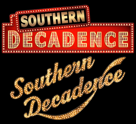 decadence: WordArt Collection Southern Decadence Marquee New Orleans Stock Photo