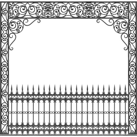 New Orleans Balcony Gallery Wrought Cast Iron Stock Photo
