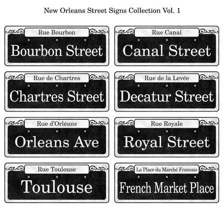 Historic New Orleans Street Signs Collection DIY Wedding Table Designs