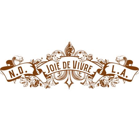 Joie de Vivre Joy of Living Typography Design Isolated on White