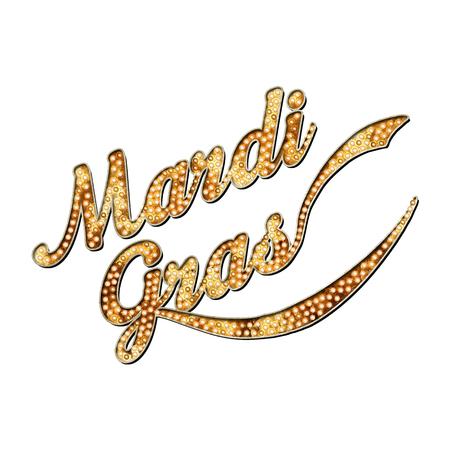 Karneval New-Orleans Louisiana-Maskerade-Typografie Standard-Bild - 85131771