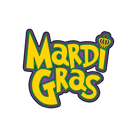 Mardi Gras New Orleans Louisiana Masquerade Typography