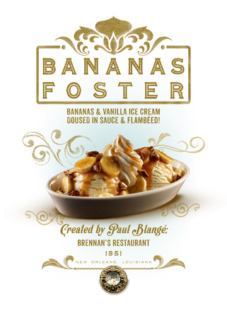 New Orleans Louisiana Culture Collection Bananas Foster Dessert 版權商用圖片