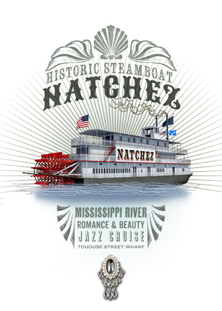 New Orleans Louisiana Culture Collection Steamboat Natchez Stock Photo