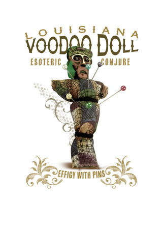 New Orleans Louisiana Culture Collection Voodoo Doll 版權商用圖片 - 85131719