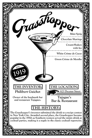 THE HISTORY OF NEW ORLEANS LIBATIONS 1919 GRASSHOPPER