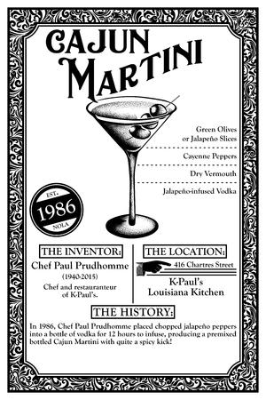 THE HISTORY OF NEW ORLEANS LIBATIONS 1986 CAJUN MARTINI