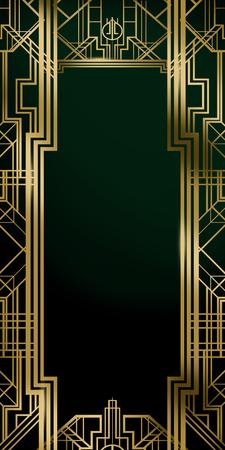 Great Gatsby Movie Film Inspired Art Deco Background