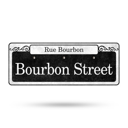 New Orleans Street Signs French Quarter Street Name Collection 免版税图像