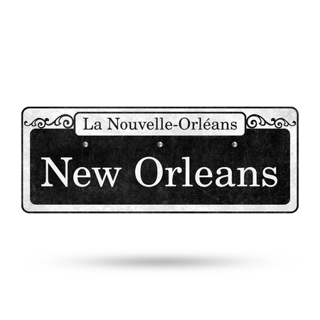 New Orleans Street Signs French Quarter Street Name Collection Reklamní fotografie