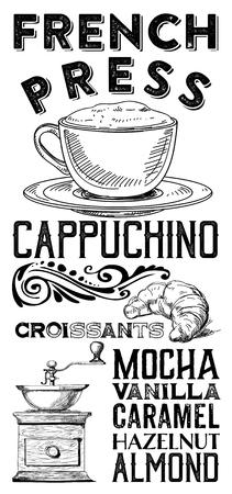 Vintage Coffee Shop Teehaus Fenster Banner Designs