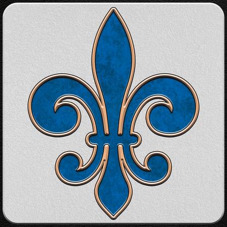 New Orleans French Quarter Sidewalk Tiles Alphabet Numbers Symbols