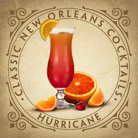 Classic Historic New Orleans Cocktail Coaster Parchment Paper