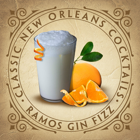 Classic Historic New Orleans Cocktail Coaster Parchment Paper