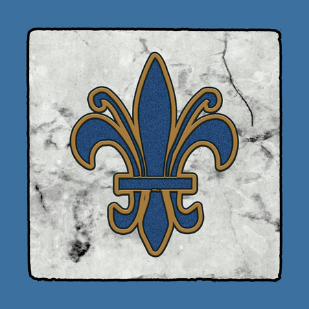 Historic Iconic Classic New Orleans Street Tiles Sidewalk Alphabet Grunge Collection of Letters, Numbers & Symbols