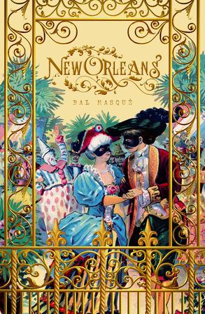 New Orleans Mardi Gras French Quarter Greeting Card Scene Stock fotó