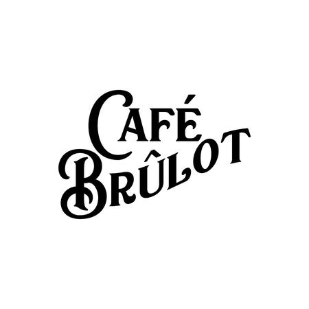 Cafe Brulot Historic New Orleans Cocktail Sketch Typography 版權商用圖片