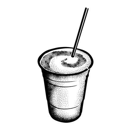 Frozen Irish Coffee Historic New Orleans Cocktail Sketch 版權商用圖片 - 115955056