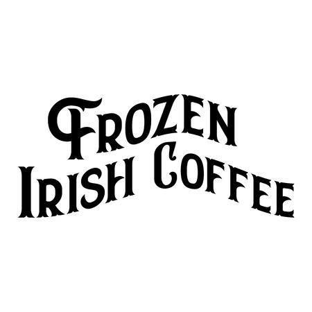 Frozen Irish Coffee Historic New Orleans Cocktail Sketch Typography 版權商用圖片