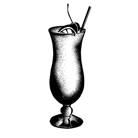 Hurricane Historic New Orleans Cocktail Sketch 版權商用圖片