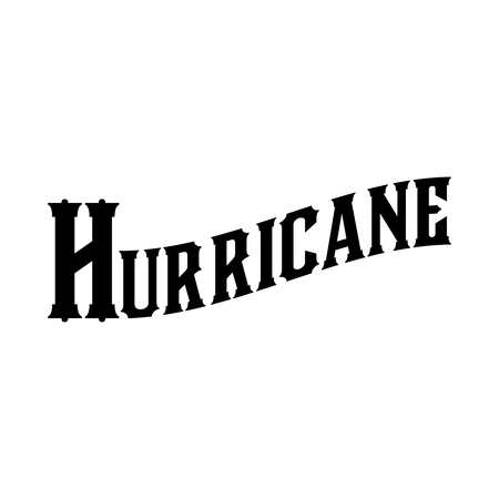 Hurricane Cocktail Historic New Orleans Cocktail Sketch Typography