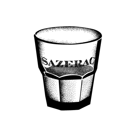Historic New Orleans Cocktail Sketch Sazerac