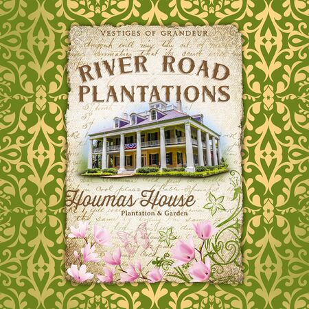 New Orleans Louisiana Culture Damask Background Plantation 版權商用圖片