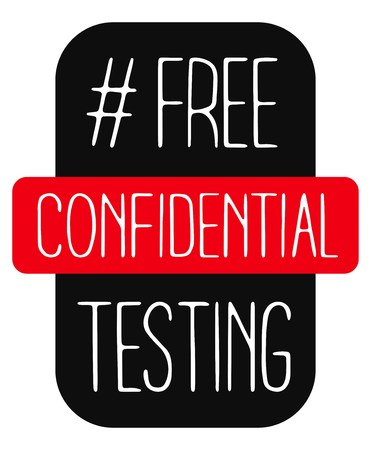 World AIDS day 1 December poster. Isolated vector banner. HIV test symbol.Free Confidential Testing
