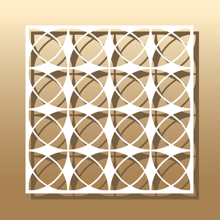 vignette: Die cut card. Laser cut vector panel. Cutout silhouette with botanical pattern. A picture suitable for printing, engraving, laser cutting paper, wood, metal, stencil manufacturing.