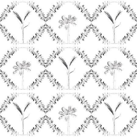 本性印刷。ユニークな手作りの葉スタンプ。植物園は、シームレス パターンをテクスチャ。画像は、印刷、テキスタイル、インテリア デザインに適