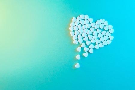 Concept illustration. Heart made of shugar candies. 版權商用圖片