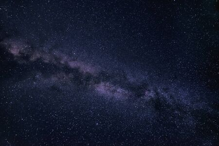 Milky Way stars on a dark night sky