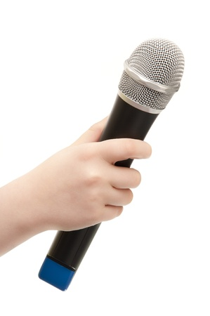 Hand with Microphone photo