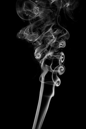 pollution art: White Smoke Swirls