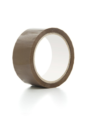 Brown Scotch Tape Isolated on White photo