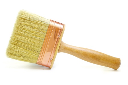 flat brush: Wooden Paintbrush