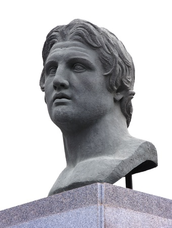 the statesman: Alexander the Great Statue Stock Photo