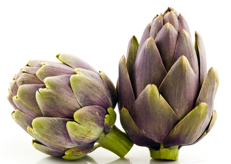 Two Artichokes on White photo
