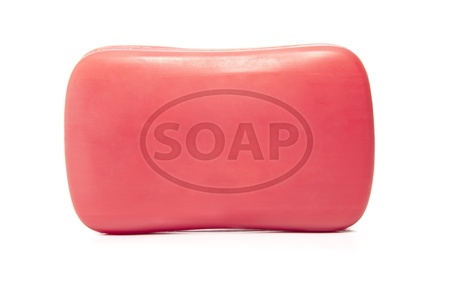 antibacterial soap: Bar of Soap Stock Photo