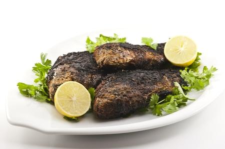 Grilled Tilapia Dish Stock Photo - 14606170