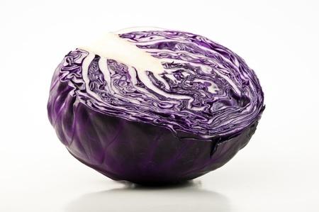 red cabbage: Fresh Red Cabbage Half