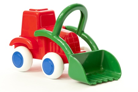agronomics: Tractor Toy Model Stock Photo