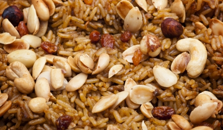 Arabian Rice Kabsa Closeup photo
