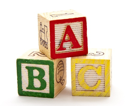 block letters: ABC Blocks