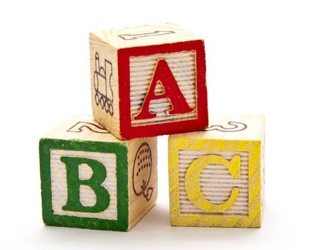 ABC Blokken Stockfoto