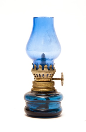 kerosene lamp: Blue Oil Lamp