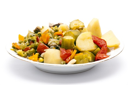 Cooked Stew Vegetables photo