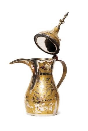 Open Arabian Coffee Pot photo