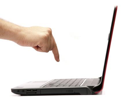 Hand Using Laptop Stock Photo - 14516748